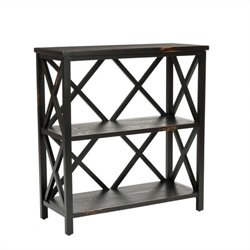 Safavieh Lucas Distressed Etagere in Black