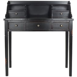 Safavieh Landon Mahogany Writing Desk in Black