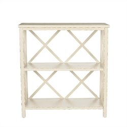 Safavieh Cooper Pine Wood Bookcase in Ivory