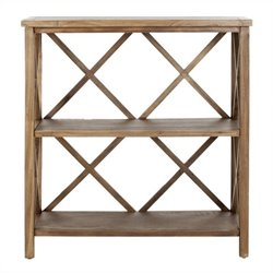 Safavieh Liam Elm Wood Open Bookcase in Oak