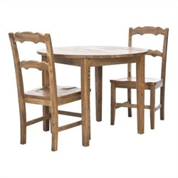 Safavieh Donna Elm Wood Dining Table in Brown