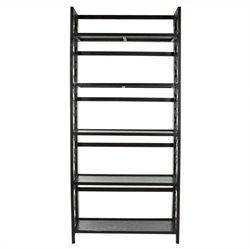 Safavieh Abby Pine Wood Tall Bookcase in Black