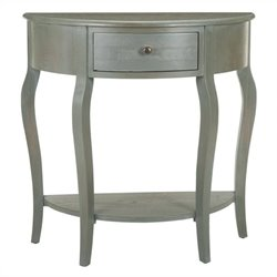 Safavieh Danielle Elm Wood Washed Console in White Washed