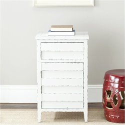 Safavieh Ryan Pine Wood Accent Chest in White
