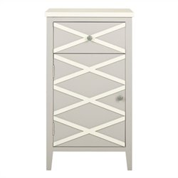 Safavieh Brandy Poplar Wood Cabinet in Grey and White