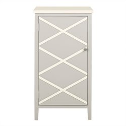 Safavieh Cary Poplar Wood Cabinet in Grey and White