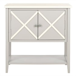 Safavieh Polly Poplar Wood Sideboard in Grey and White