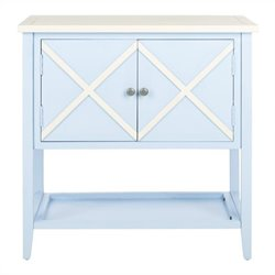 Safavieh Polly Poplar Wood Sideboard in Light Blue and White