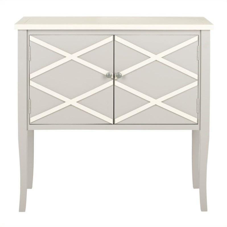 Safavieh Winona Poplar Wood Sideboard in Grey and White