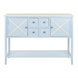 Safavieh Adrienne Poplar Wood Sideboard in Light Blue and White