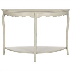 Safavieh Christina Poplar Wood Console in Eggshell