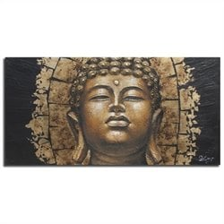 Safavieh Buddha Painting in Gold and Black