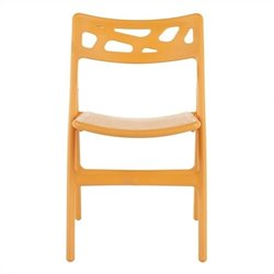 Safavieh Eva Orange Folding Chair in Orange (Set of 4)