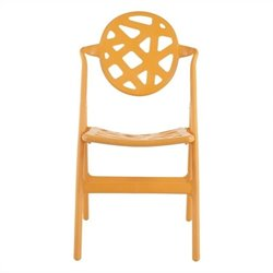 Safavieh Jill Orange Folding Chair in Orange (Set of 4)