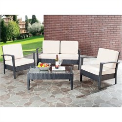 Safavieh Watson Aluminum 4 Piece Set in Brown