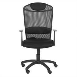 Safavieh Shane Desk Office Chair in Black