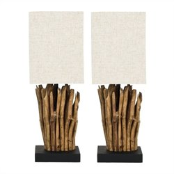 Safavieh Aspen Branch Mini Table Lamp with Linen Shade (Set Of 2)