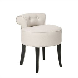 Safavieh Hannah Birch Wood Vanity Chair in Beige