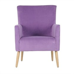 Safavieh Darryl Fabric Club Arm Chair in Purple