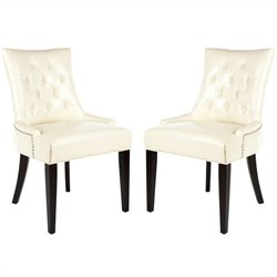 Safavieh Peyton Birch   Dining Chair in Cream (Set Of 2)