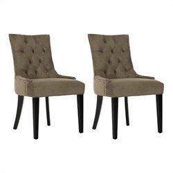Safavieh Ashley Birch  Kd  Dining Chair in Mole Grey (Set Of 2)