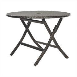 Safavieh Ellis Round Folding Table in Brown