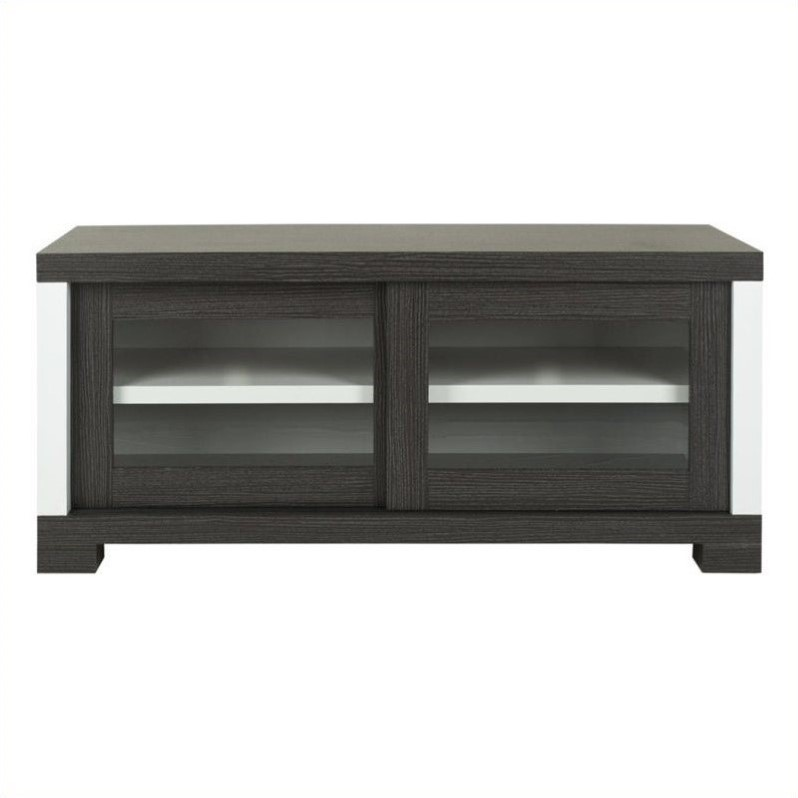 Davis Sliding Door Tv Cabinet in Dark Grey