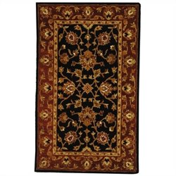 Safavieh Heritage Rectangle Rug in Black / Red
