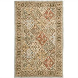 Safavieh Heritage Rectangle Rug in Light Blue / Light Brown