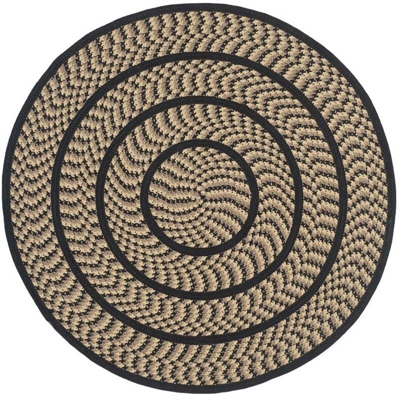 Safavieh Braided Beige Braided Rug - Round 4'