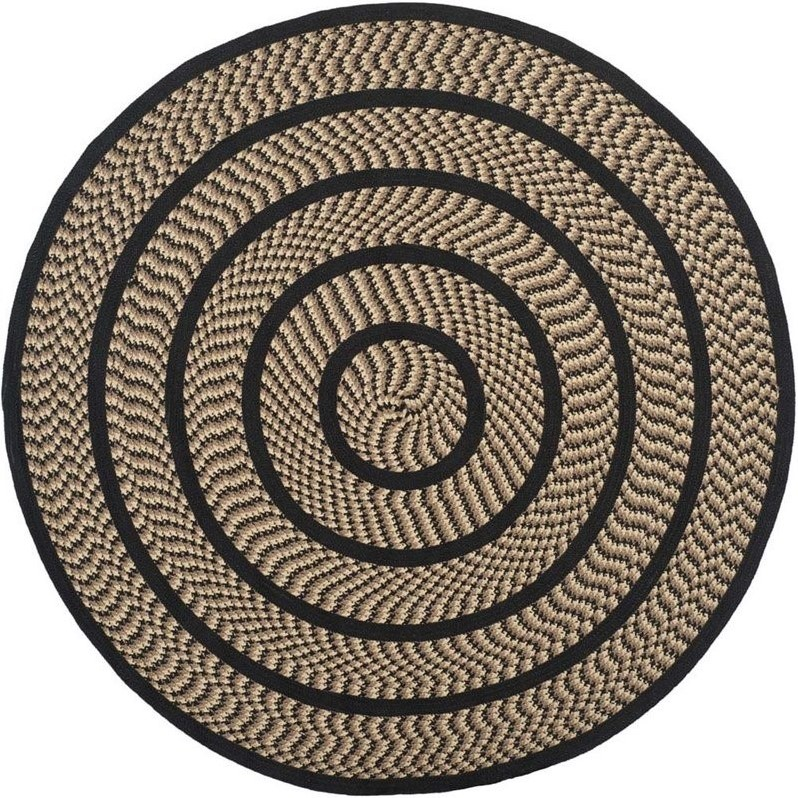 Safavieh Braided Beige Braided Rug - Round 6'