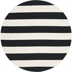Safavieh Montauk Black Contemporary Rug - Round 6'