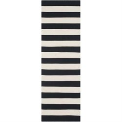 Safavieh Montauk Black Contemporary Rug - Runner 2'3