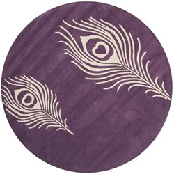 Safavieh Soho Purple Contemporary Rug - Round 4'