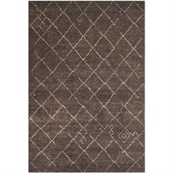 Safavieh Tunisia Dark Brown Area Rug - 6' x 9'