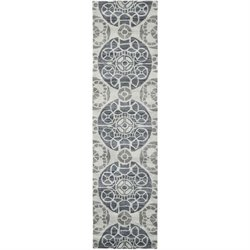 Safavieh Wyndham Silver Contemporary Rug - Runner 2'3