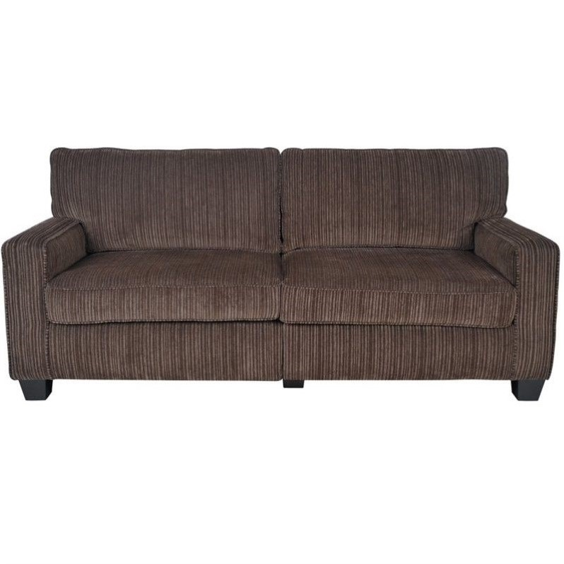 Serta RTA Palisades Collection 73 Sofa in Riverfront Brown