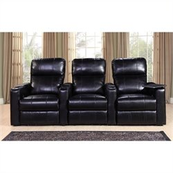 PRI Larson Power Recliner Home Theater Seating in Black