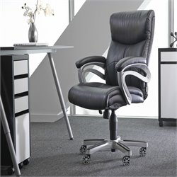 Sealy Posturepedic Fixed Arm Chair in Black