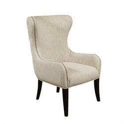 PRI Upholstered Accent Arm Chair in Beige