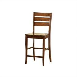 Bernards Ridgewood Barstool in Mahogany Finish
