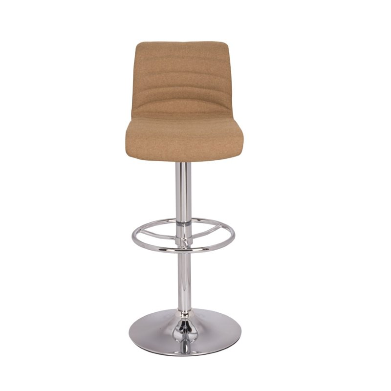 Chintaly Pneumatic Bar Stool in Camel 1637752