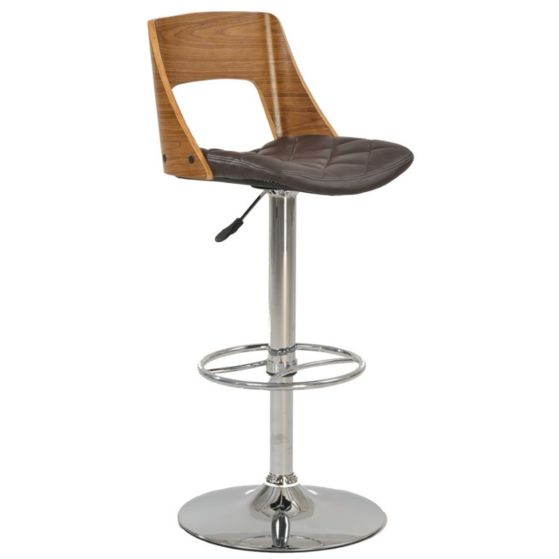 Chintaly Pneumatic Bar Stool in Brown 1637846