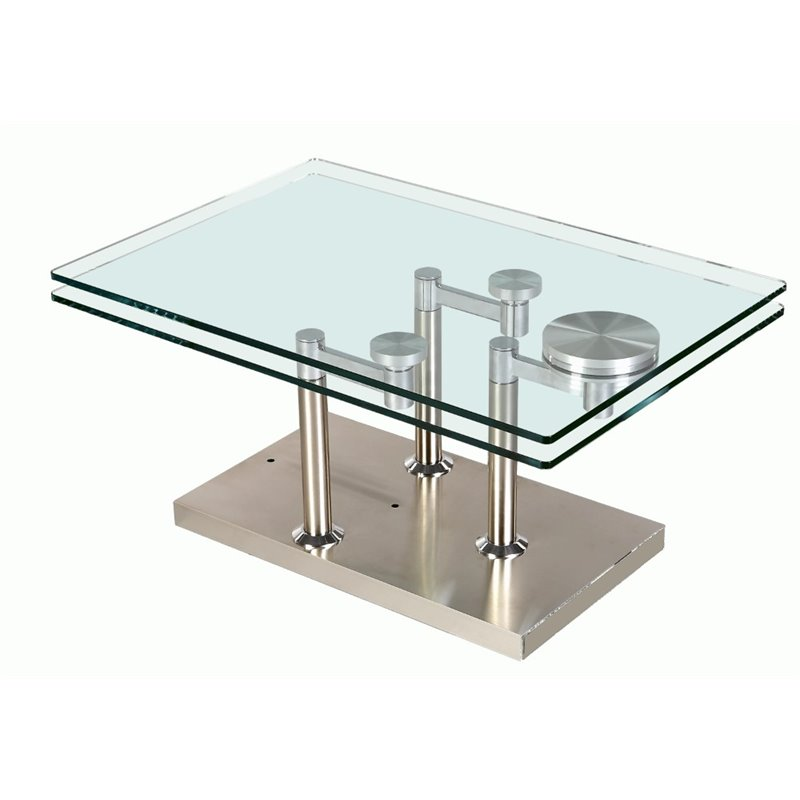 Chintaly Imports Coffee Table in Stainless Steel
