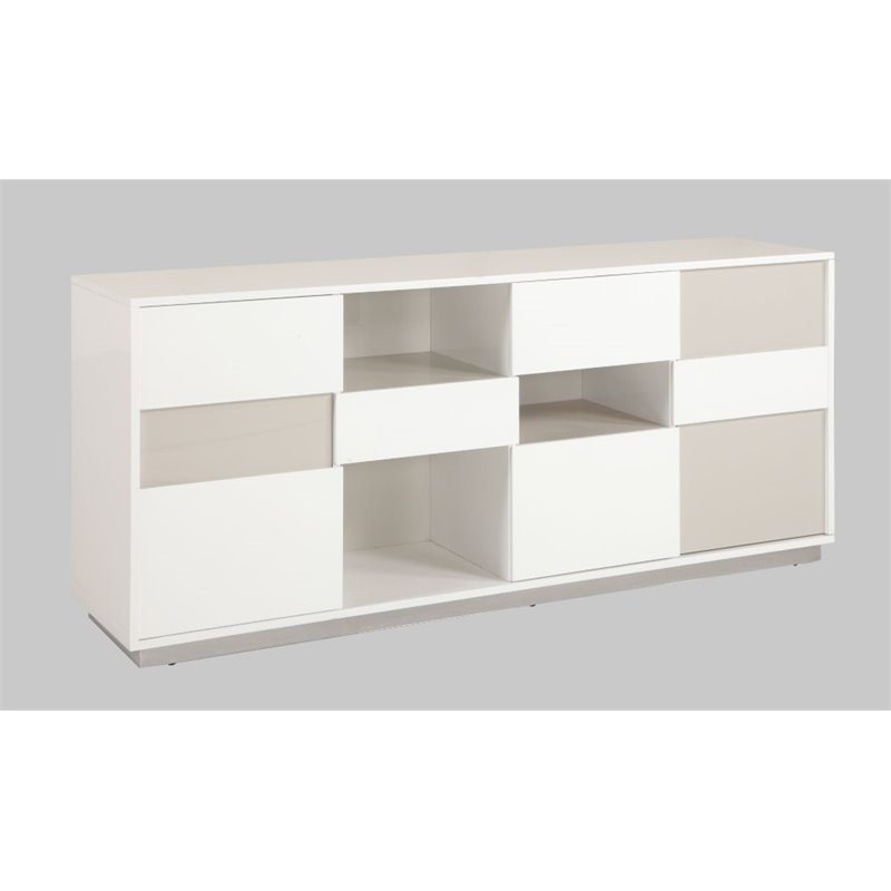 Chintaly Sideboard in Gloss White and Gray