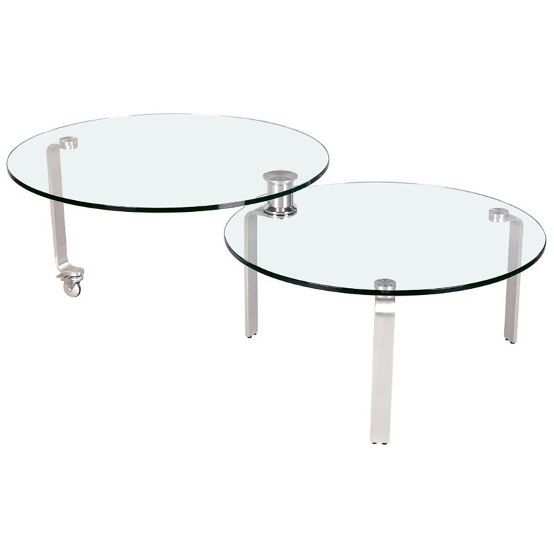 Chintaly Coffee Table in Chrome