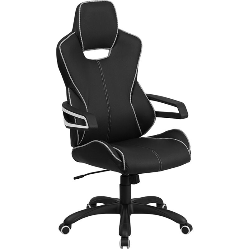 Flash Furniture High Back Faux Leather Office Chair in Black