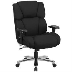 Flash Furniture Big and Tall Fabric Swivel Office Chair in Black