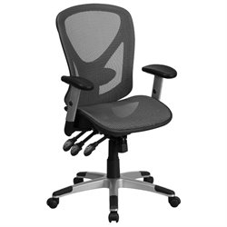 Flash Furniture Mid Back Swivel Office Chair in Gray