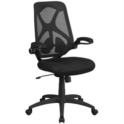 Flash Furniture High Back Mesh Swivel Office Chair in Black